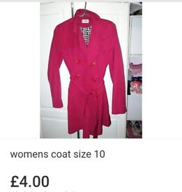 Womens red coat size 10