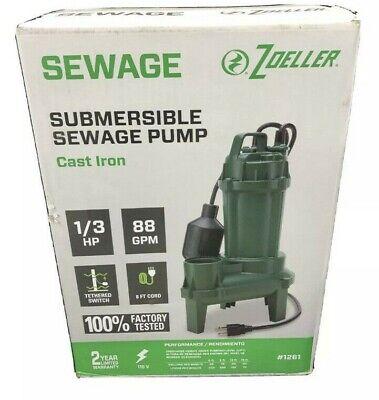 Zoeller 13 -hp 115 Volt Cast Iron Submersible Sewage Sump Pump 1261-0001