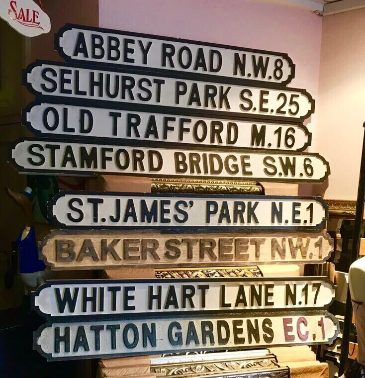 PERSONALISED Vintage Wood London street road sign we make any sign