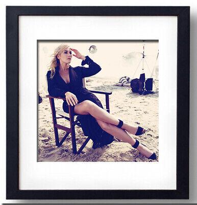Kate Winslet photo by Alexi Lubormirski for H. Bazaar- Framed print -...