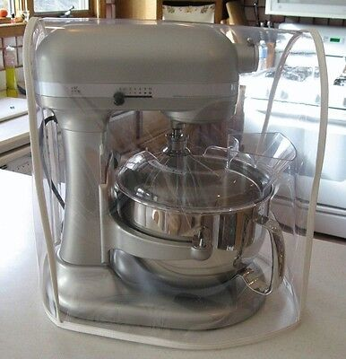 CLEAR MIXER COVER fits KitchenAid Bowl-Lift - SILVER trim - (5-6 Qt.)