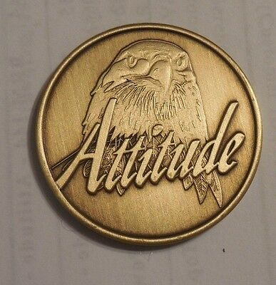 AA ALCOHOLICS ANONYMOUS ATTITUDE PROGRESS NOT PERFECTION Chip Coin Token NEW for sale  Shipping to Canada