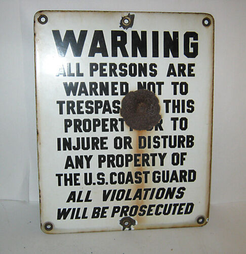 Vintage Military US COAST GUARD Metal Sign