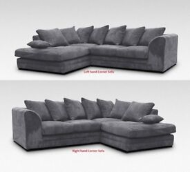 🔥🔥BEST BUY AT LOW PRICE🔥BRAND New Dylan Byron Jumbo Cord Double Padded Corner or 3+2 Seater Sofa