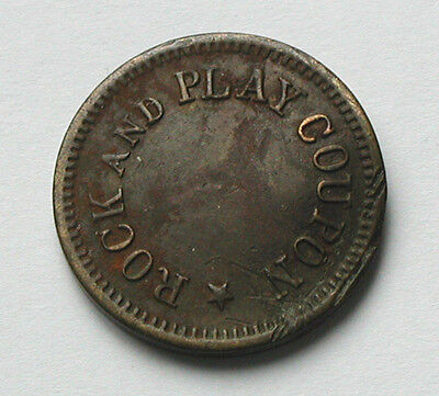 Rock & Play Machine Token/Coin - 49 F.L. - 49 Fetter Lane London UK - Hayes #324