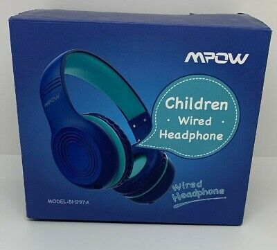 Mpow Childs Foldable On-Ear Stereo Headphones 3.5mm Wired Game Earphones NIB