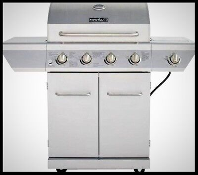 4 Burner Gas Grill Propane w/ Side Burner BBQ Outdoor Stainl