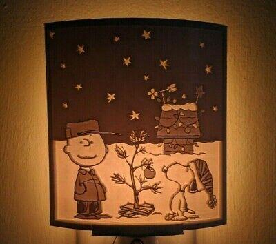 A Charlie Brown Christmas, 1965 Snoopy Lithophane Night Light Lamp Decor 028 Brown Christmas Light