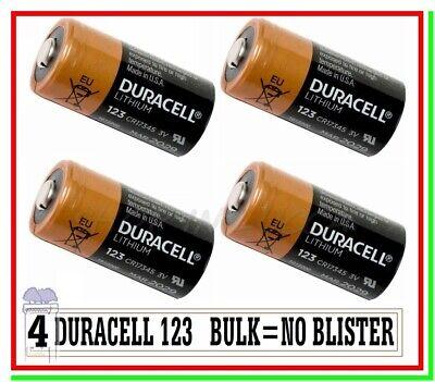 4 DURACELL 123 CR 17345 Batteria Pila Litio Softair Drone Allarme Sensore...