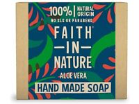 Faith in Nature Natural Aloe Vera Hand Soap Bar ☆FAST & FREE NEXT DAY DELIVERY☆