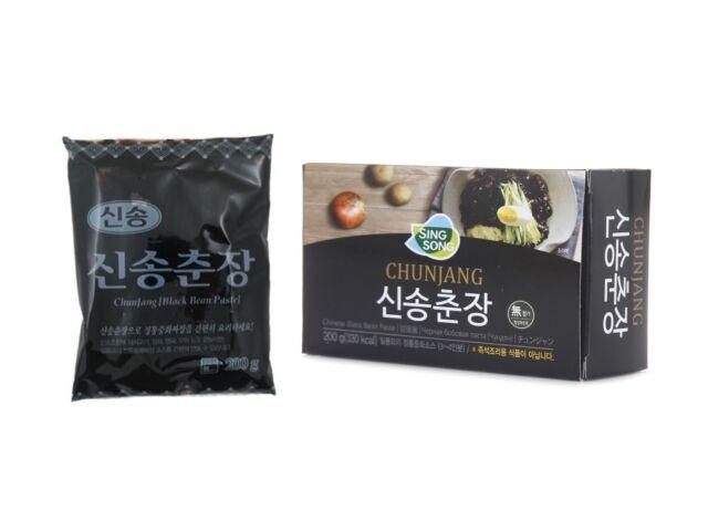 "Korean Black Bean Paste Sauce ""Chunjang"" for Jjajangmyun Black ramen Noodles 7oz"