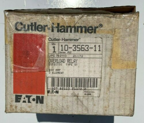 *NEW* Eaton Cutler Hammer 10-3563-11 Overload Relay 150 amp 3 element
