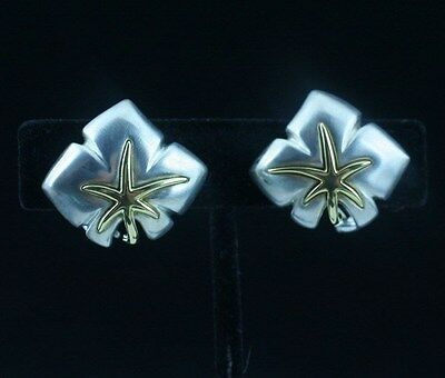 Tiffany & Co. Sterling Silver 18K Yellow Gold Ivy Starfish Earrings