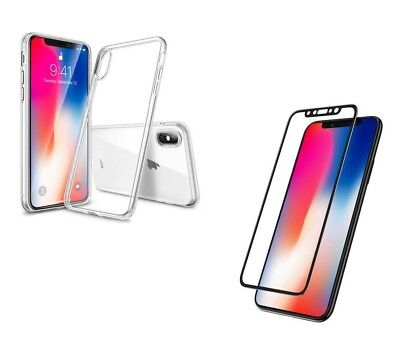 iPhone xR 3D FULL COVER Schutzglas + Silikon HÜLLE Case Tasche 360° Silikon 3d Iphone
