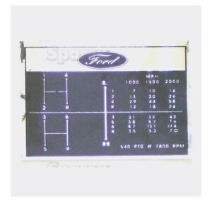 67193-Decal-Shift-Pattern-6-Speed-Ford-2000-2110LCG-231-2600-3000-335-3400-3600