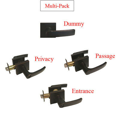 - Multi-Pack Dark Oil Rubbed Bronze Door Square Dummy/Passage/Privacy Keyed Entry