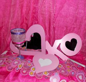 Mirroirs, Cadre, Lampe, Rideaux - en forme de Coeur