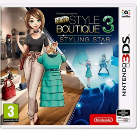 New Style Boutique 3 - Styling Star (Nintendo 3DS, 2017) Video game