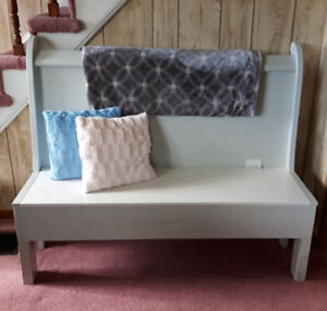 Hand Crafted Wooden Bench with Storage