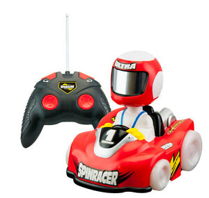 Radio Control Light Up Spinracer Vehicle with Batteries set of 2