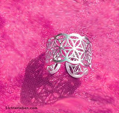 Blume des Lebens - Lebensblume Ring 925er silber Grösse  variabel - Schmuck