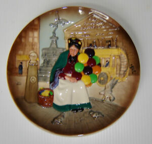 Royal Doulton Character Plate - The Old Balloon Seller (D6649)
