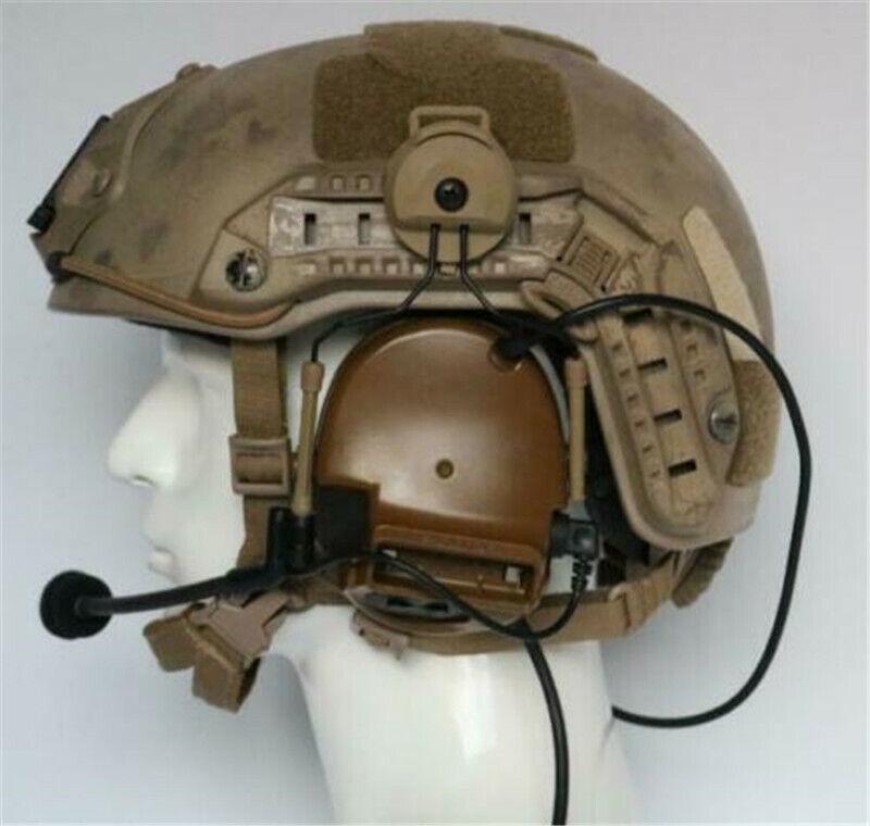 COMTAC III/C3 Single Com Noise Reduction Tactical Headset Helmet Ver For TCA TRI