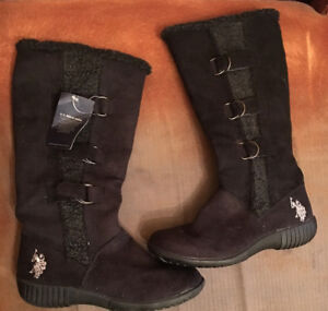 POLO black long boots NEW