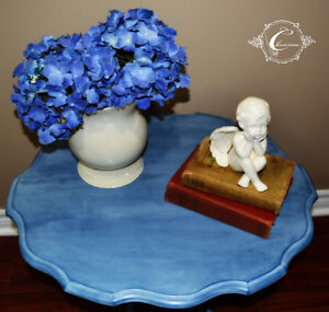 Hand painted pedestal occasional table Windsor Region Ontario image 2