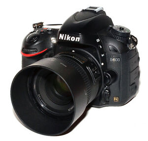 Nikon D600 FX DSLR Camera with 50mm 1.8 and Grip