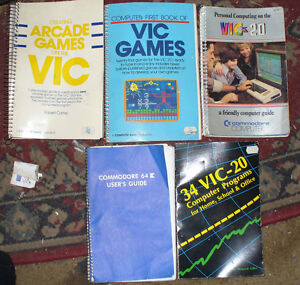 Commodore Vic 20, manuals, books and programs on Cassette tape