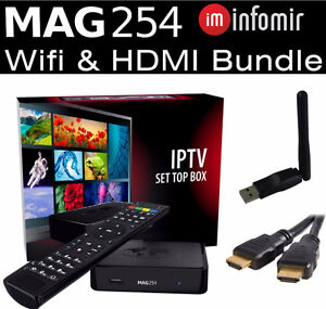 MAG 254 IPTV BOX + 6 MONTHS SUBSCRIPTION 2600 HD LIVE CHANNELS