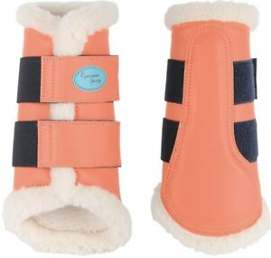 NEW FLEX TRAINER HORSE BOOTS SET OF 4 HARRYS HORSE-XL-CORAL