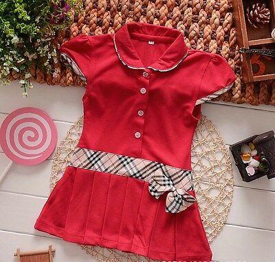 Modernes  Mädchenkleid Karokleid Tenniskleid   neu Gr. 74, 80, 86, 92, 98