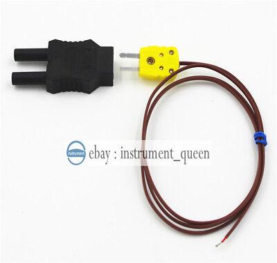 Type K Thermocouple Replace Fluke 80pk-1 And Dual Plugs 4mm Banana Adapter