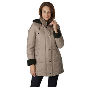 Nygard TanJay Claudia Women's Quilted Oyster Coat Large