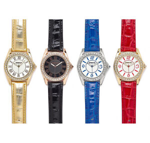 MANHATTAN by CROTON Crystal Bezel Ladies Watches