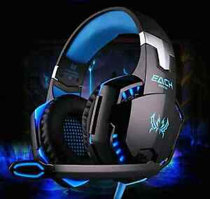 Each kotion pro gaming over the ear headset brand new Black/Blu