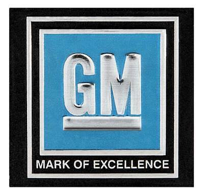 1968-72 GM Cars and Trucks - GM Mark of Excellence Seat Belt Buckle Decal - - Gm Cars And Trucks