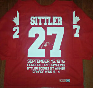 DARRYL SITTLER 1976 TEAM CANADA HERO COMMEMORATIVE CCM JERSEY