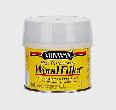 Minwax High Performance WOOD FILLER Repairs Damage Rot In/Outdoor 6 oz New 41600