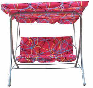 New - 3 Persons Patio Swing Chair with canopy and cushion