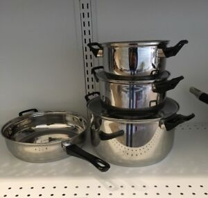 Brand new 7 piece stainless steel cookware set fo $44.95 only