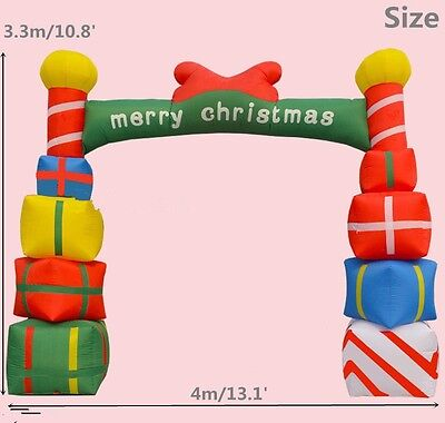 Giant Inflatable Christmas Arch with Gift Boxes for Opening Ceremony 4M ax