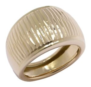 10K Gold Two-Textured Dome Ring