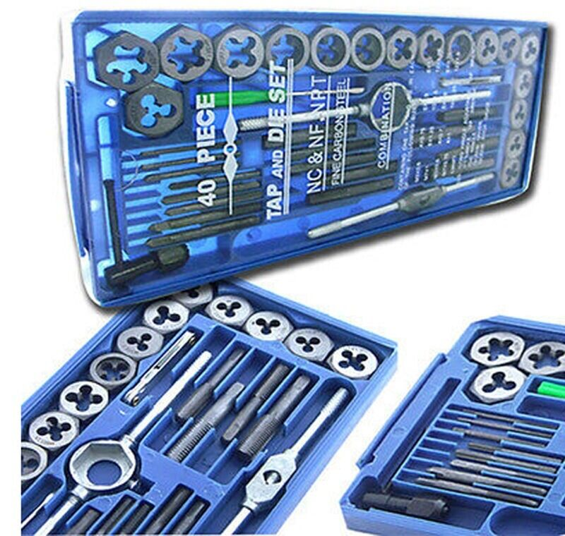 BLUE CASE 80PC SAE METRIC  Tap & Die Set Bolt Screw Extractor/Puller Removal Kit