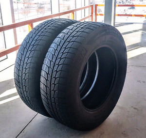 Set of two 215/70/14 Michelin X-Ice winter tires