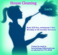 Lucie's House Cleaning - Eastern Ottawa