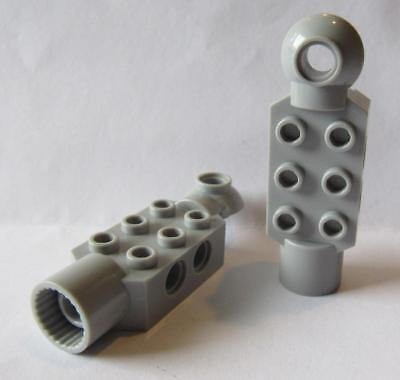 8 Plate LEGO Parts~ Modified 2 x 2 w Pin on Bottom 2476 LT BL GRAY