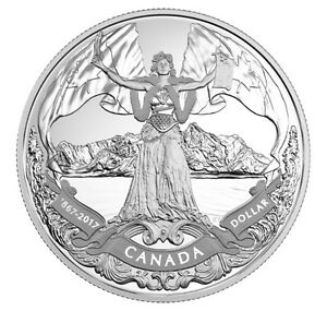 2017 $1 Canadian Confederation, 150th Anniversary - Proof Silver